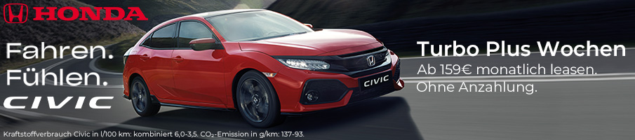 Honda Civic Angebot Turbo Plus Wochen